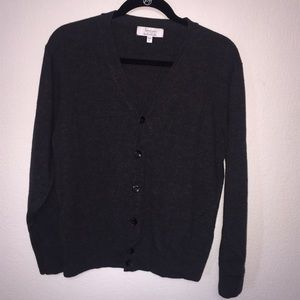 Other - Turnbury Charcoal Gray Wool Cardigan Men Size L